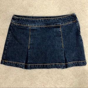 Tommy Hilfiger Luy Luy Denim Jean Pleated Skirt
